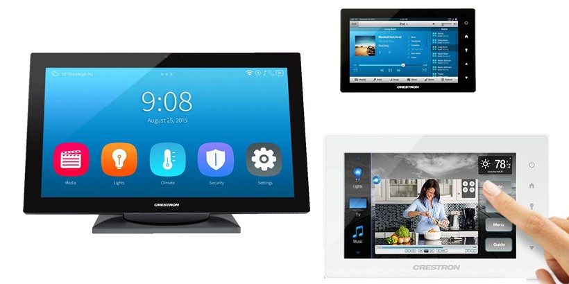 Crestron Touch screen displays