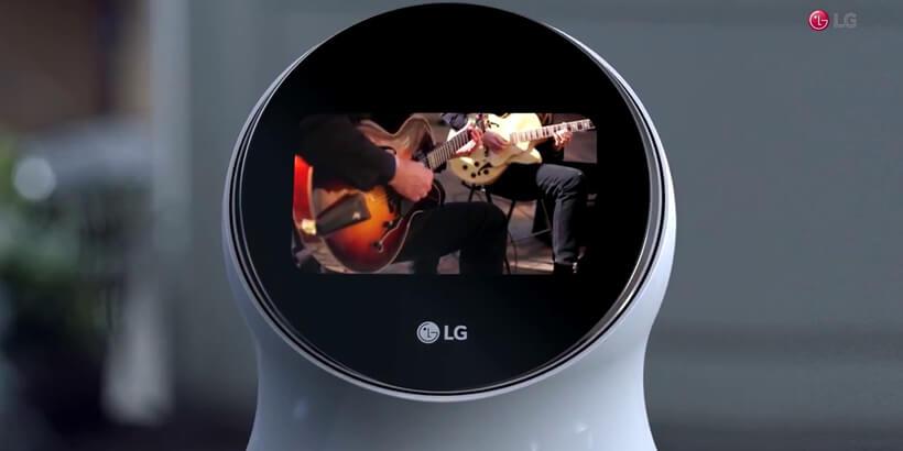 lg hub robot display
