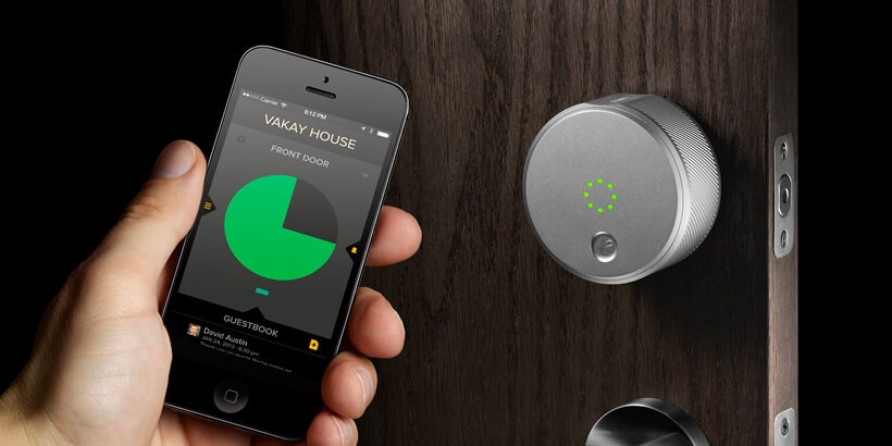 Most Secure Door Knob : Technology door locks lockitron fits over existing